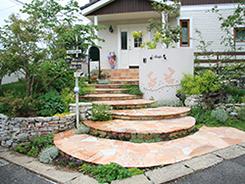 神戸市北区にお住まいのお客様へ 外構施工事例1