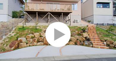 急斜面のお庭を石積み土留で駐車場へ メイン写真