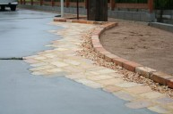 ビンテージレンガ敷き アプローチ・階段