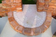 レンガオブジェ 化粧石飾り アプローチ・階段