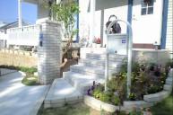 ホワイトレンガ階段 アプローチ・階段