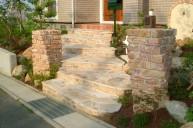 石張り階段 アプローチ・階段