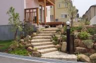 アンティークレンガ並べ階段 アプローチ・階段