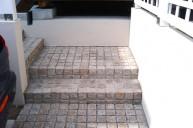 ピンコロ敷き階段 アプローチ・階段