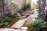 景石敷きアプローチ アプローチ・階段