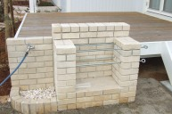 壁水栓とバーベキュー炉の組み合わせ例 バーベキュー炉
