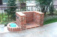 バーベキュー炉+二口の立水栓 バーベキュー炉