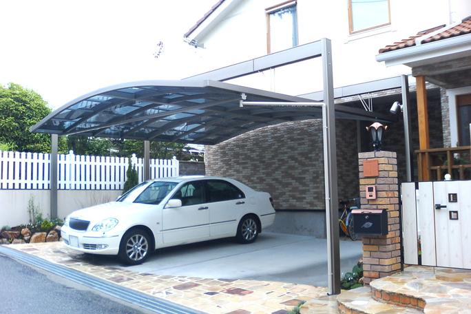 新日軽カーポート2台置き カーポート・駐車場