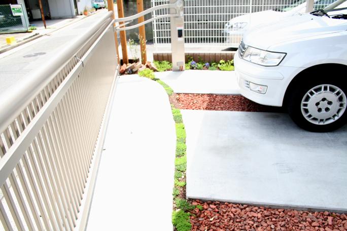 コンクリート土間中抜き加工 カーポート・駐車場