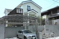 カーポート2台置き コンクリ土間駐車場 カーポート・駐車場