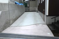 カラーモルタル駐車場 カーポート・駐車場
