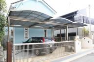 カーポート2台分+アプローチ屋根 カーポート・駐車場
