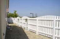 木製ホワイトフェンス 内側 フェンス