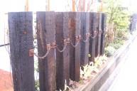 枕木仕切りチェーン飾り フェンス