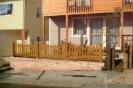 波状木製フェンス フェンス