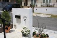 漆喰門柱 裏壁水栓 門柱・門周り