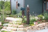 枕木門柱 ポストとおそろい 門柱・門周り