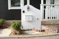 塀門柱 立水栓一体型 門柱・門周り