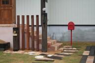 枕木門柱 ウリンウォール 門柱・門周り