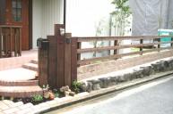 枕木立て門柱 門柱・門周り