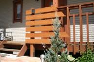 木製フェンス風門柱 門柱・門周り