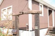 枕木ウッドゲート門柱 門柱・門周り