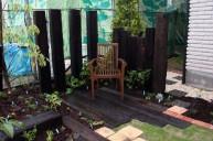 枕木を美しく魅せる植栽 ガーデニング