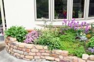 可愛いアンティークレンガ積み花壇 ガーデニング