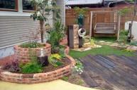 円とアールの花壇 ガーデニング