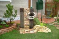 枕木レンガ立水栓 立水栓