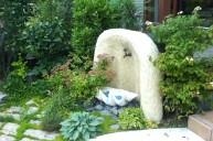 モルタル加工立水栓 立水栓