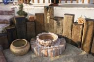 枕木立て立水栓 立水栓
