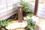擬枕木立水栓 立水栓