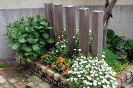 疑似木の角柱ウォール フェンス