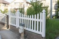 白いフェンス フェンス