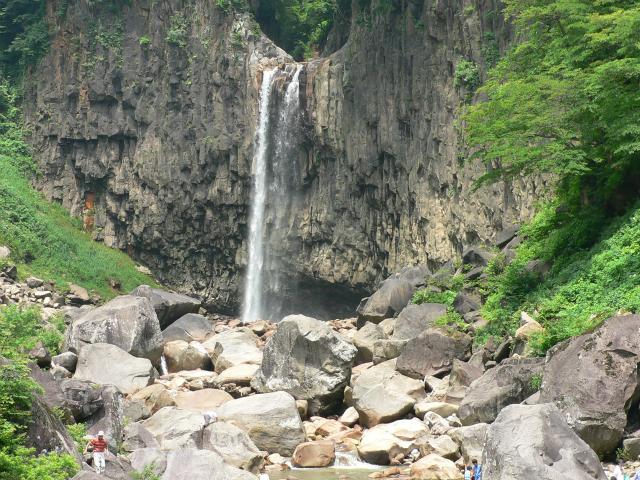 滝と人比較