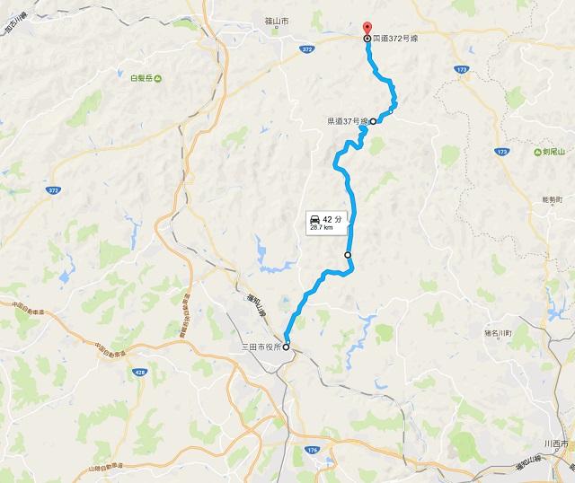 三田篠山ルートマップ