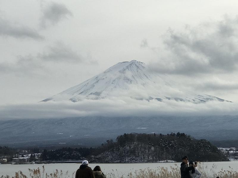河口湖からの富士